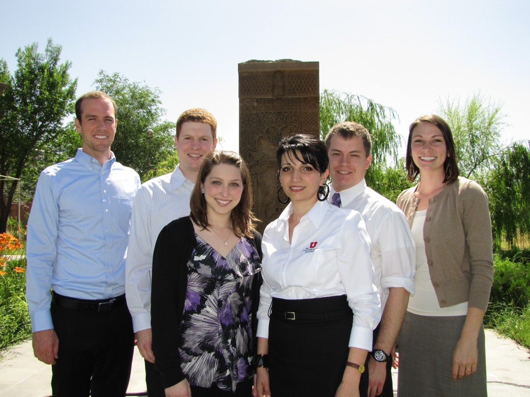 Dr. Wright and the Armenia 2010 Study Abroad Group in Yerevan